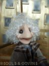 OOAK Art Doll Albert by Souls and Gowns. Materials used: polymer clay, glass eyes, mohair, brass.