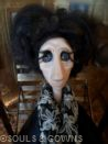 OOAK Art Doll Tamara by Souls and Gowns. Materials used: polymer clay, glass eyes, mohair, brass.