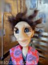 One-of-a-kind Doll Federico by Souls and Gowns. Materials used: polymer clay, glass eyes, mohair, brass.